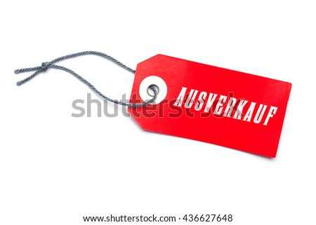 Red sales label tag with special offer message