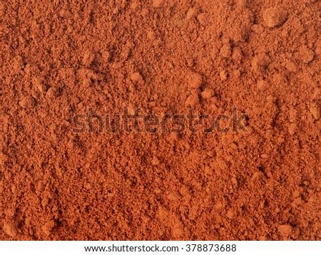 Red sand after rain. Maxixe, Inhambane, Mozambique, East Africa - stock photo