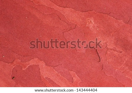 red sandstone texture in the garden - stock photo