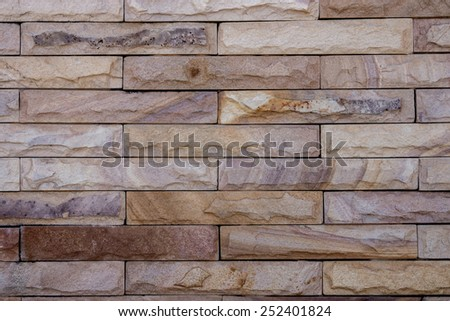 Red sandstone walls - stock photo
