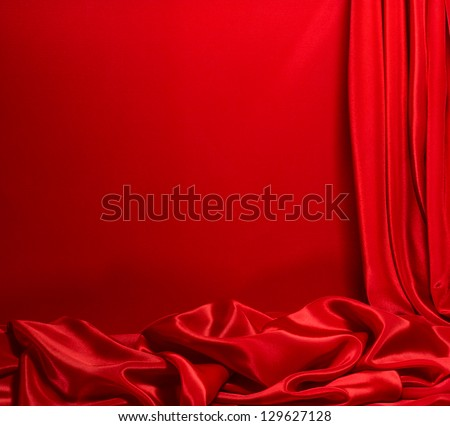 Red satin background as a frame