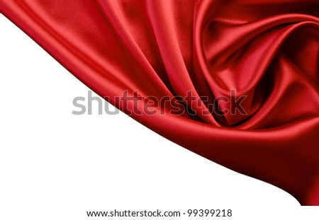 red satin or silk background - stock photo
