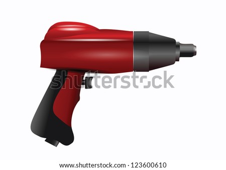 Red Screwdriver Isolated on White