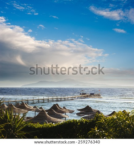 Red Sea beach. Sharm El Sheikh, Sinai, Egypt. - stock photo