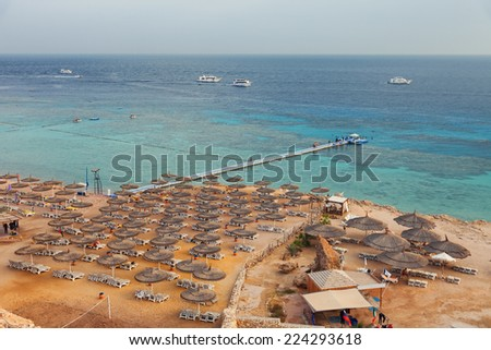 Red Sea coast in Egypt, Sharm el sheikh - stock photo
