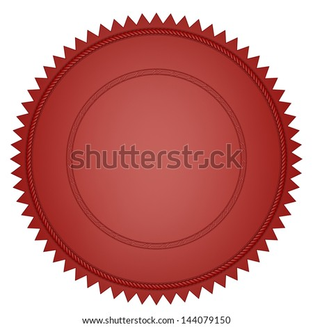 Red seal - stock photo