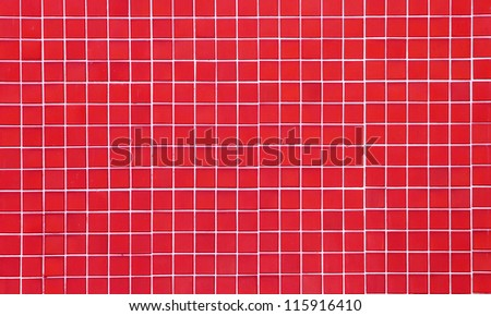 red seamless ceramic tiles, abstract texture - stock photo