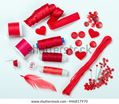 Red sewing kit