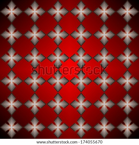 Red shapes pattern.