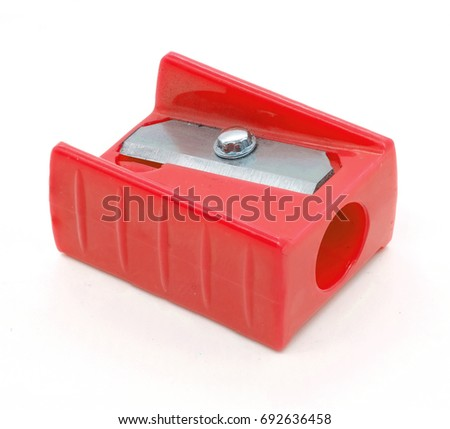 red sharpener pencil isolated on white background