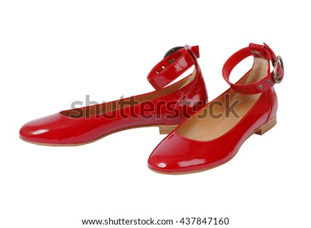 red shoes isolate on white
