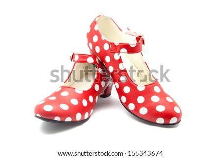red shoes speckled for dance of Fleming - stock photo