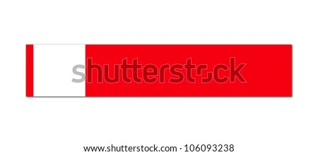 red sign on white background