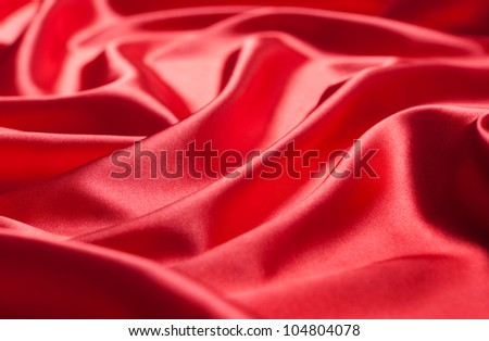 red silk background - stock photo