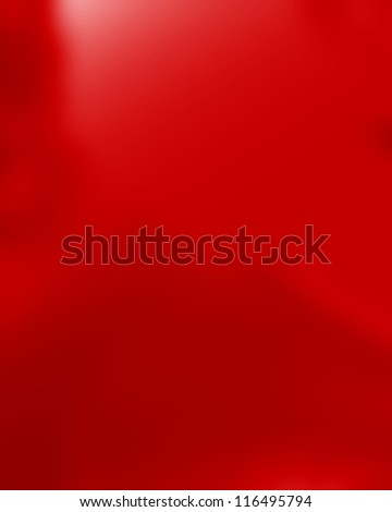Red silk background with some soft folds and highlights - stock photo
