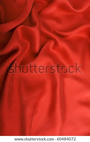 Red silk satin. - stock photo