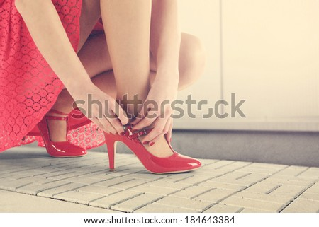 red skirt  - stock photo