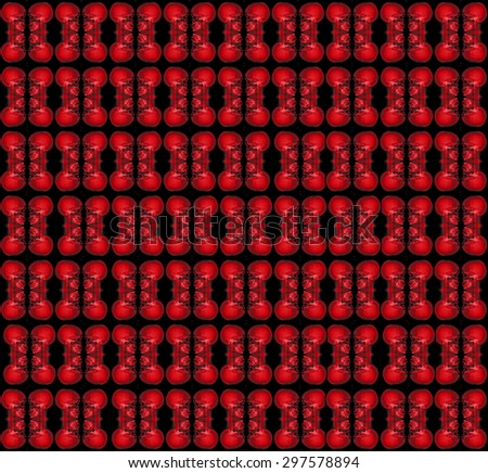 red skull seamless use as pattern and wallpaper. - stock photo