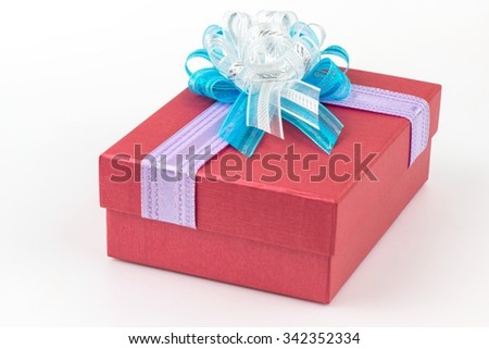 Red small box for expensive gifts and decorations  - stock photo