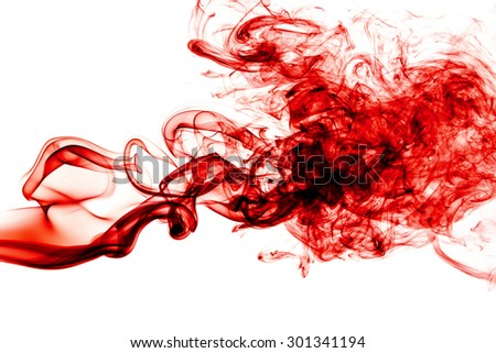 Red Smoke abstract background. - stock photo