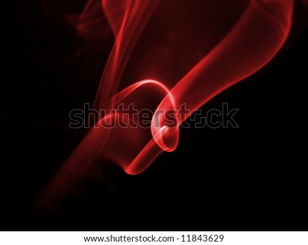 Red smoke,great for background - stock photo