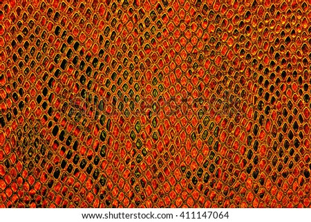 Red snake skin background - stock photo