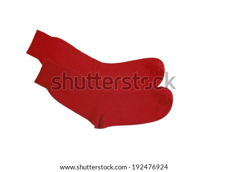 red socks isolated on white background