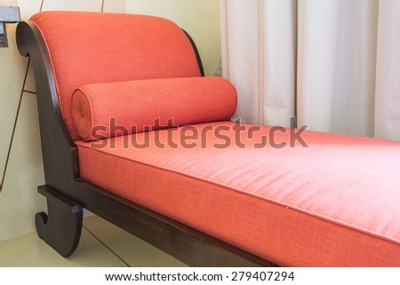 Red sofa bed chair