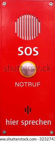 red sos emergency talking device (Isolated)