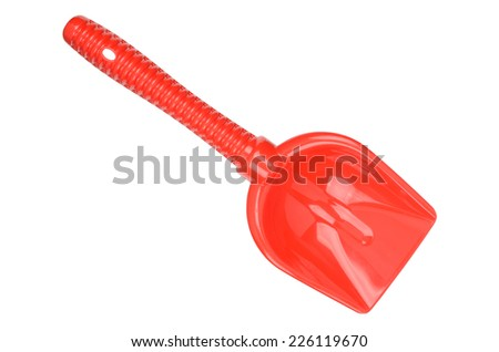 Red spade isolated on a white background. Clipping path included. - stock photo