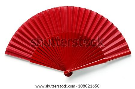 red spanish fan - stock photo