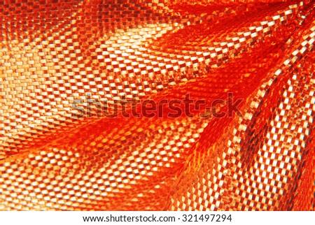 red sparkle fabric texture macro - stock photo
