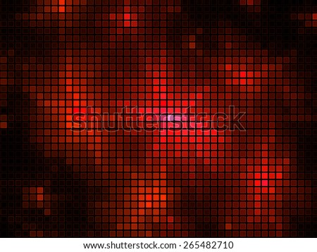 red sparkle glitter background. Glittering mosaic wall.