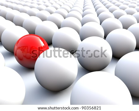 Red Sphere stands out of the crowd