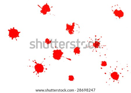 red splatters
