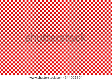 red square pattern on white background