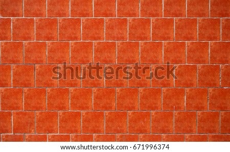 Red square tiles wall texture
