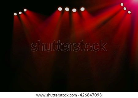 Red stage background