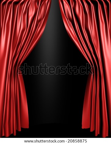 Red stage curtain