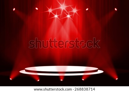 Red stage light background - stock photo