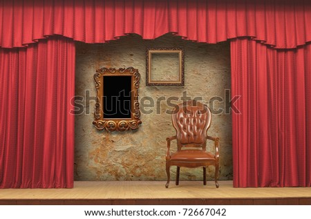 Red Stage Theater Drapes