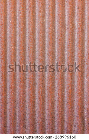 red stain on old metal sheet wall texture - stock photo