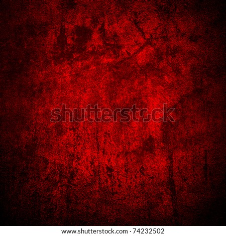 red stained wall - stock photo