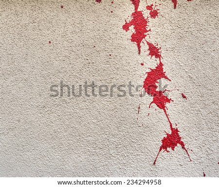 how to clean blood stains from wall