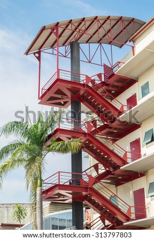 Red Stair of building