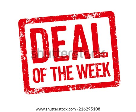 Red Stamp - Deal of the week - stock photo