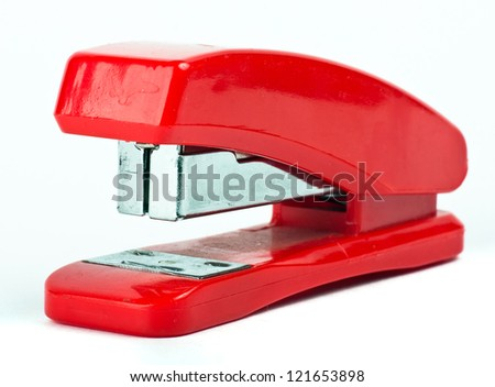 Red Stapler - stock photo