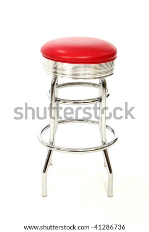Red Stool - stock photo