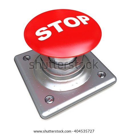 Red STOP button Isolated High resolution.3D Illustration