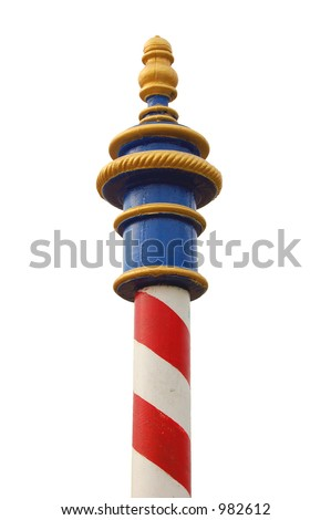 Red striped pole